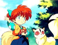 Shippou and Kirara- Inuyasha!! TuT <3