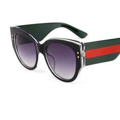 80b915b2eb 2018 oversized round sunglasses women retro big frame Red Green specta –  KOREAIDOLFEVER