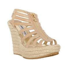 619601e4e02a Jimmy Choo Palermo Espadrilles Wedges Sandal Nude is a fashion style hot  sale in this season
