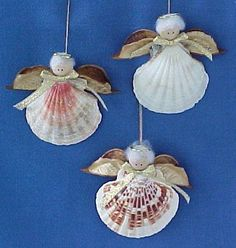 Homemade Angel Christmas Ornaments | NC Handcrafts Handmade Shell Angel Christmas Ornaments