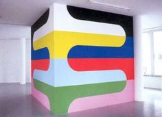 The Crystal Plumage: Jan van der Ploeg Room Wall Painting, Mural Painting, Room Paint, Tape Wall Art, Mural Wall Art, Geometric Wall Paint, Small Balcony Decor, Bedroom Wall Designs, Cat Wall