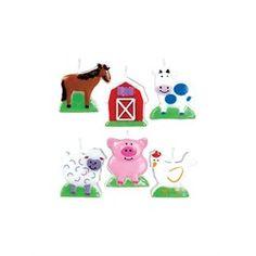 Farm Animals Candle Set (each)