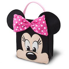 Must-Have Disney Trick or Treat bags for Halloween. If you're dressing up as Minnie Mouse, you need a Minnie Mouse treat bag to complement your look! Minnie Mouse Halloween, Minnie Mouse Party, Disney Halloween, Halloween Night, Trick Or Treat Costume, Trick Or Treat Bags, Rapunzel Halloween Costume, Minnie Costume, Costume Bags