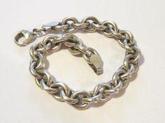 Vintage Sterling silver bracelet 7'' length by wandajewelry2013