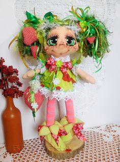 Купить Кукла Ягодная феечка 4 . Текстильная интерьерная кукла. - интерьерная кукла, текстильная кукла