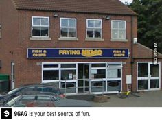 oh no... Fish restaurant called Frying Nemo... wrong!