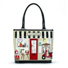 Painting Louis Vouitton London Bags Lulu Guinness Quirky Fashion Tote Handbags