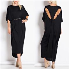 CAMILLE knot detail dolman maxi dress - BLACK knot detail dolman maxi dress. 95% rayon, 5% spandex. Made in USA.,NO trade, PRICE FIRM Bellanblue Dresses Maxi