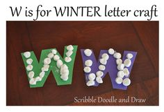 Letter W Activities, Preschool Letter Crafts, Alphabet Crafts, Letter A Crafts, Literacy Activities, Crafts For Kids, Preschool Curriculum Free, Preschool Class, Homeschool