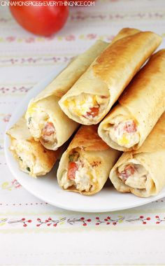 Chubby Cream Cheese Chicken Taquitos #dinner #appetizers