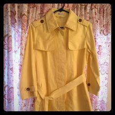 Gap Rain Coat Bright yellow raincoat coat! Perfect for a rainy day to keep the blues away. GAP Jackets & Coats Trench Coats
