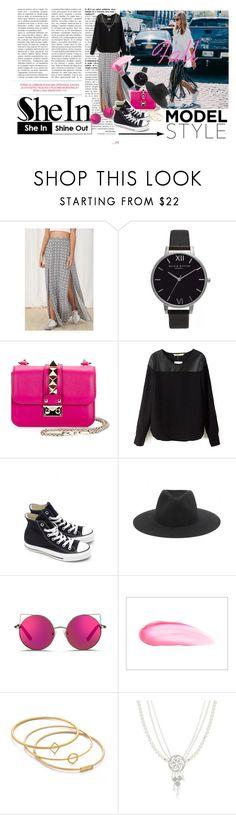 Fall by hacii on Polyvore featuring moda, MINKPINK, Converse, Valentino, Olivia Burton, Madewell, rag & bone, Matthew Williamson, Benefit and Sheinside