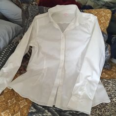 Brooks Brothers button down Crisp cotton with a little stretch, tailored fit. Brooks Brothers Tops Button Down Shirts