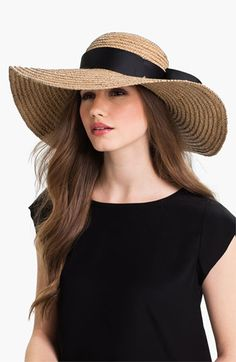 Jonathan Adler Floppy Straw Sun Hat available at #Nordstrom  This is a must have.