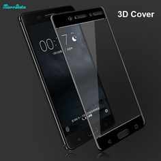 """MicroData 3D Full Cover Tempered Glass Screen Protector Film mobile phone screen guard film for Nokia 6 5.5"""" inch  //Price: $10.70//     #shop"""