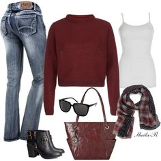 """""""Weekend Winter Outfit-Over 40 Fashion"""" by sheila-r on Polyvore"""