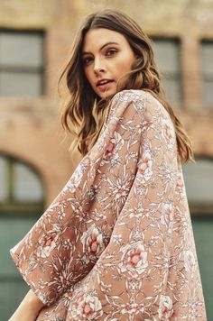 69a96d33e883c Dreaming of Us Pressed Rose Floral Kimono