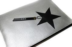 protège carnet de santé mixte garçon fille simili cuir argenté et noir, étoile : Puériculture par kipapee
