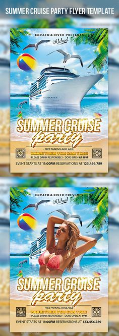 Summer Cruise Party Flyer Template #design #print Download: http://graphicriver.net/item/summer-cruise-party-flyer-template/12013830?ref=ksioks