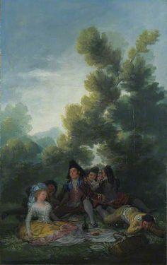 A Picnic, 1785-90 Francisco Goya oil on canvas