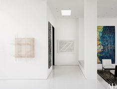Arrayed near the entry are works by (from left) Tobias Putrih, Aaron Young, Paul Noble, and Alexandra Grant.
