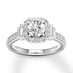13c1c1a33 Diamond Engagement Ring 1-1/5 ct tw 14K White Gold. Kay Jewelers ...