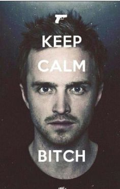 .:.:.:.:.:.BREAKING BAD.:.:.:.:.:.   Keep calm bitch with Jesse pinkman / Aaron Paul  funny humor meme