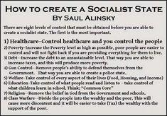 Saul Alinsky How To Create a Socialist State