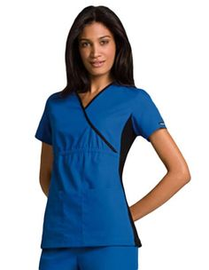 Buy Cherokee Flexibles Women Nurses Mock Wrap Scrub Top for $20.45