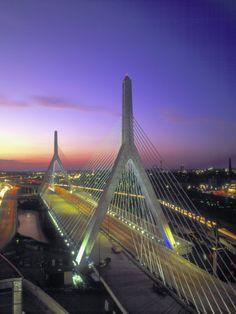 Leonard P. Zakim Bunker Hill Bridge, Boston by John Coletti