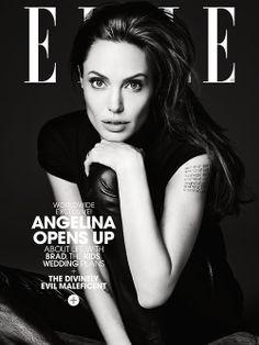 Angelina Jolie by Hedi Slimane for US Elle, June 2014