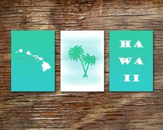 Hey, I found this really awesome Etsy listing at https://www.etsy.com/listing/225721615/3-hawaii-art-prints-hawaii-wall-decor