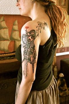 Cartoon girly tattoos - 50 Examples of Girly Tattoo