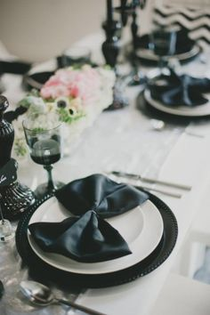 Gorgeous black + white details
