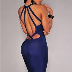 Dark blue bandage dress Dark blue bandage dress made from high quality bandage fabric. Available in sizes Small and medium. Laveliq Dresses Midi