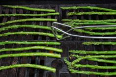 When you've got a little extra room on the grill, consider elegant asparagus to go with your fish, chicken or steak. The quick, hot cooking method brings out the veggie's natural sugars. In addition, the  long, spear-like shape of asparagus means that you won't have to skewer them or wrap them to keep them from falling through the grill.