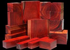 EXOTIC WOOD: RENGAS is also called Borneo Rosewood and originates from Asia. This unique species (though not a true rosewood) shares many of the same colors and working properties of the true Dalbergia Rosewoods. The wood ranges in color from warm oranges and reds to almost black streaks. The streaks are very well-defined, unlike many woods. www.cookwoods.com