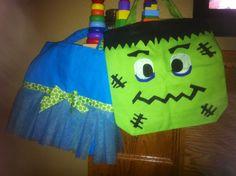 Kids DYI Trick or Treat Bags