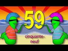 Les chiffres et les nombres de 50 à 70 - alain le lait (French numbers) - YouTube