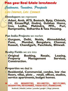 Realty Investments ?? - Lets Interact, Lets Connect...