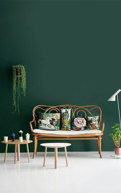 Kleur groen woonkamer