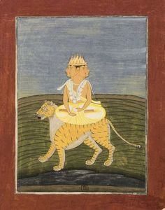 "Inscribed on the back as Brahma. Album ""Indian Theogony, following some characters on horseback"". Bengal, perhaps Chandannagar, 1760. 1 vol. 37 miniatures: gouache, watercolor; various formats. Bibliothèque nationale de France"