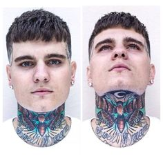 Hottest No Cost Dermal Piercing throat Ideas Skin piercings are also referred to as single-point piercings. That is because dermals don't have a differe Hot Guys Tattoos, Neck Tattoo For Guys, Face Tattoos, Trendy Tattoos, Sleeve Tattoos, Throat Tattoo, Bug Tattoo, Estilo Chola, Skin Piercing