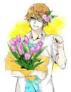 Imagen vía We Heart It https://weheartit.com/entry/137577562 #anime #boy #cute #flowers #manga #toukyoukushu #tokyoghoul #nishikinishio #pixivmember:花しぐさ #pixivid8141436