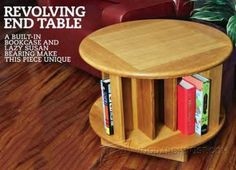 938-Revolving End Table Plans