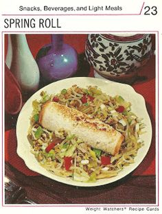 """That's right. Roll up some pork and bean sprouts in a piece of white bread and call it a """"spring roll."""" Way to go, 1970s."""