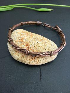 Men copper bangle , unisex bracelet, men jewelry, wire bangle , wire wrapped bangle, men jewelry, men copper bracelet