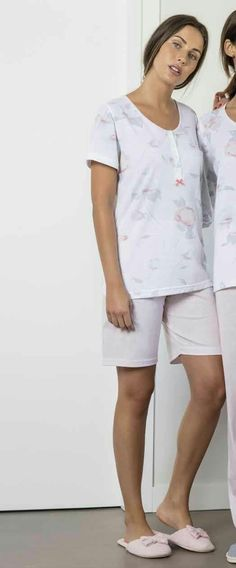 Pijama mujer verano en tejido jersey 100% algodón 6164afaf66e9a