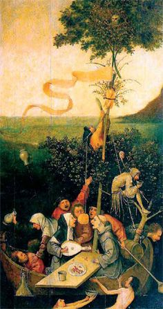 Image The Ship of Fools. Oil on wood, 58 x 33 cm x Musee du Louvre, Paris. Hieronymus Bosch, Most Famous Paintings, Great Paintings, Medieval Art, Renaissance Art, Renaissance Humanism, Art Sites, Oil Painting Reproductions, Vinyl