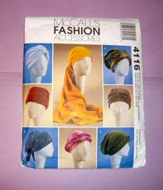 McCall's Pattern - I need G for a scrub Hat! Sewing Ideas, Sewing Patterns, Chemo Care, Chemo Beanies, Diy Hat, Surgical Caps, Scrub Hats, Nurse Gifts, Turban